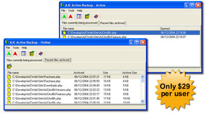 Click to view AJC Active Backup screenshots