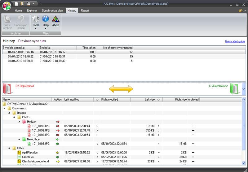 AJC Sync screenshot