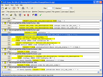 Click to view AJC Grep screenshots