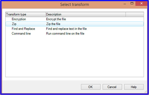Transform select zip